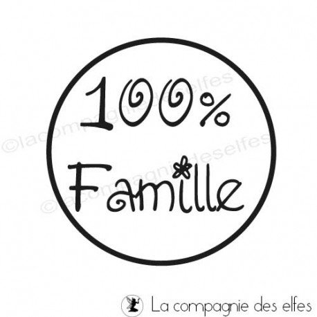 tampon scrapbooking famille