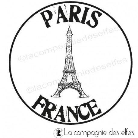 Tampon Paris   tampon tour eiifel   tampon art postal