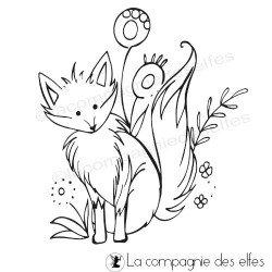 fox rubber stamp | achat tampon renard