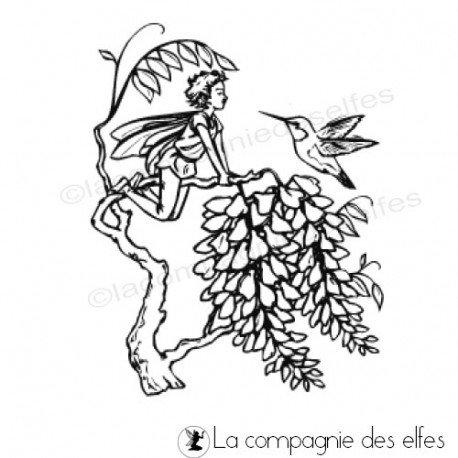 Tampon elfe colibri | humming bird stamp