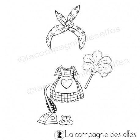 Tampon Tenue Ménage Fée Du Logis Cannelle Nm La Compagnie Des Elfes
