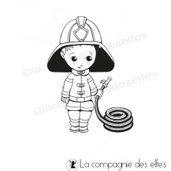 Tampon sapeur pompier | fireman rubber stamp