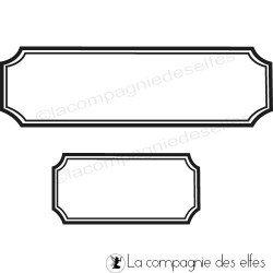 Tampon scrapbooking étiquette