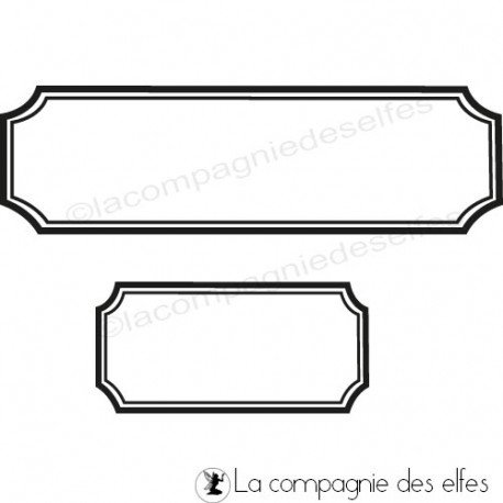 tampon scrapbooking tiquette la compagnie des elfes. Black Bedroom Furniture Sets. Home Design Ideas
