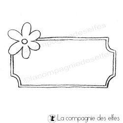 Etiquette fleur | Flower rubber stamp