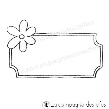 Carte 1/3 Cadre-fleur-tampon-nm