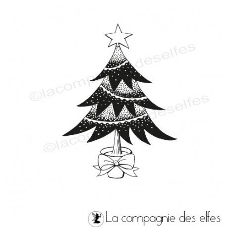 Achat tampon de Noël | Tampon scrap noel