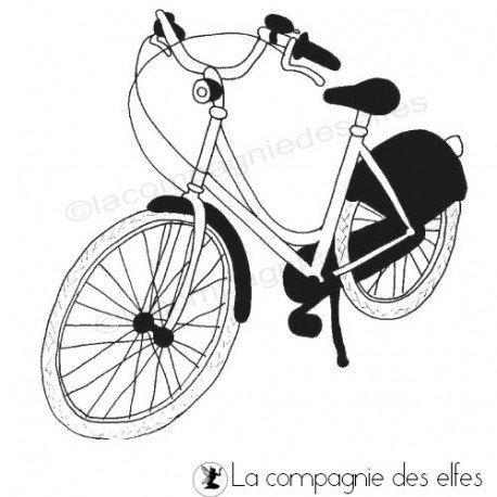 Tampon encreur vélo | tampon scrapbooking