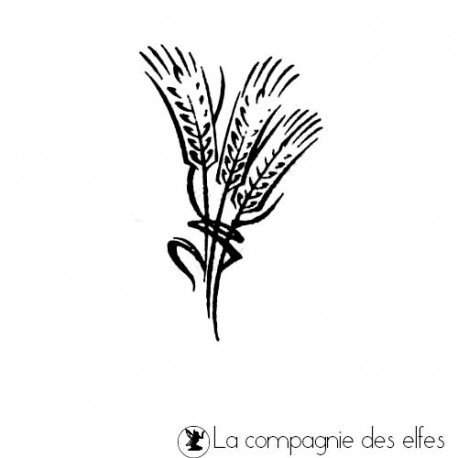 Wheat rubber stamp | Tampon épis de blé