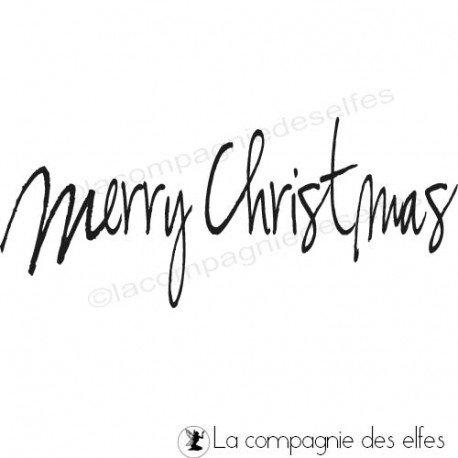 Tampon merry christmas | tampon noël en anglais