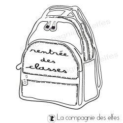 tampon rentrée scolaire | tampon cartable scolaire