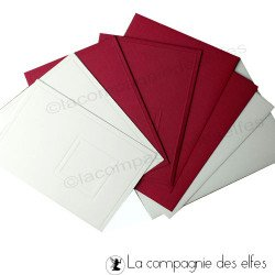 Carte et enveloppe pour les fêtes