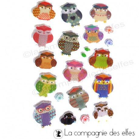 acheter stickers animaux | stickers hibou