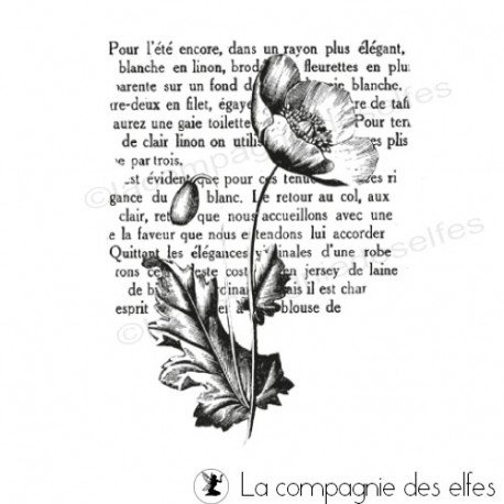 Sello de goma amapola | buy poppy rubberstamp
