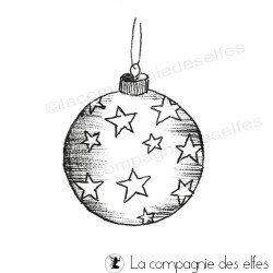 Boule de Noël - tampon nm