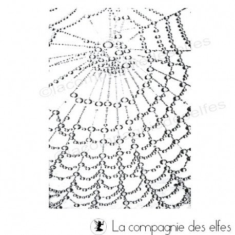 Spider stamp | tampon rosée | tampon scrap doodle