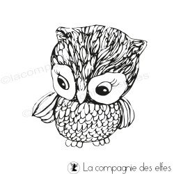 Tampon chouette hibou | owl rubber stamp