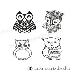 Owl rubber stamp | eule stempel