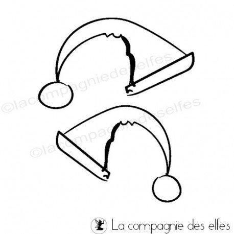 Challenge du 1er décembre sketch ATC. Tampon-bonnet-de-noel