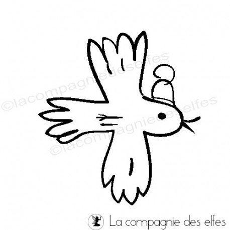 Tampon encreur oiseau | buy christmas rubber stamp