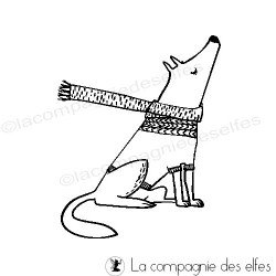 Tampon encreur loup | wolf rubber stamp