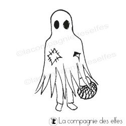 Tampon fantome halloween | halloween ghost rubber stamp