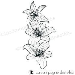 Tampon fleurs de lys