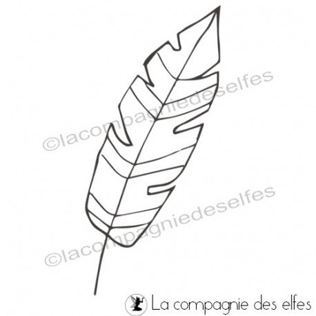 Tampon plume | feather rubber stamp