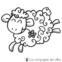 sheep rubber stamp | schaf stempel