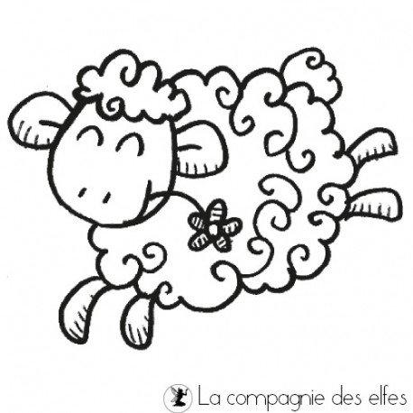 sheep rubber stamp | schaf stempel