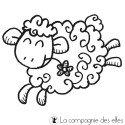 tampon BOIS mouton