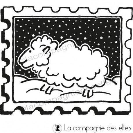 schaf stempel | tampon encreur mouton | sheep stamp