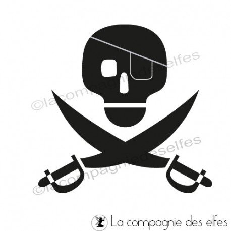 Tampon encreur pirate