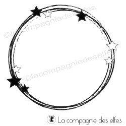 Tampon cercle étoilé