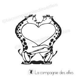 girafes amoureuses tampon nm