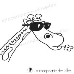 girafe à lunettes tampon nm