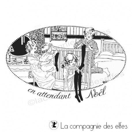 Tampon vintage Noël | Christmas vintage stamp