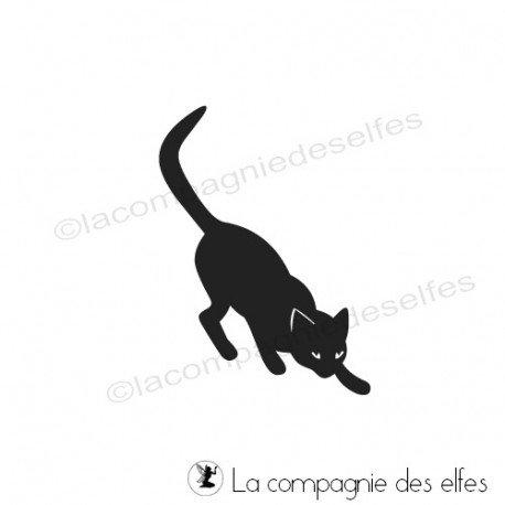 Tampon encreur chat | cat rubber stamp