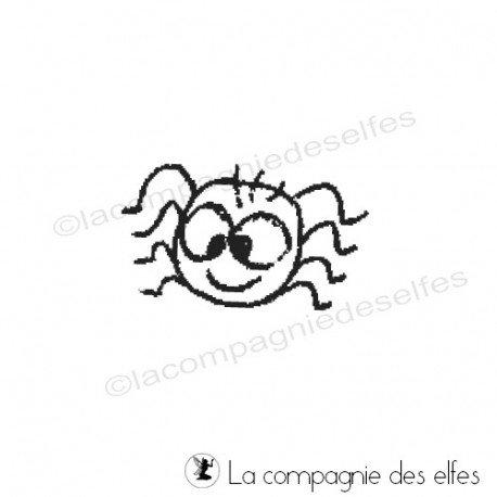 Tampon araignée kawaii | kawaii rubberstamp