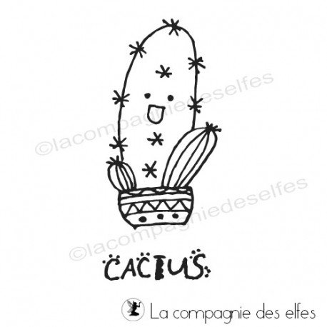 tampon kawaï cactus | cacti stamp | stempel kaktus | tampon collection | tampon kawaii