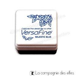 versafine blue | versafine bleu | encre scrapbooking bleu