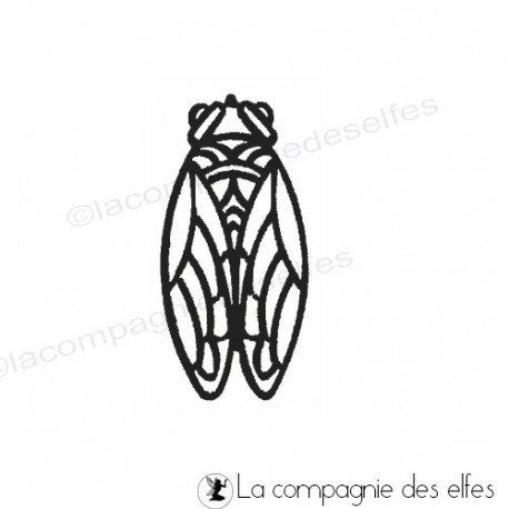 Cicada rubber stamp | Tampon cigale