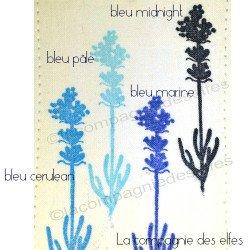 encre tissu bleu pâle