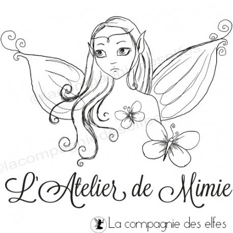 Tampon fée perso  fairy rubber stamp   tampon atelier