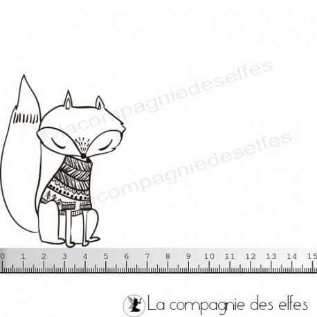 Cartes enveloppes surprises Tampon-renard-de-noel