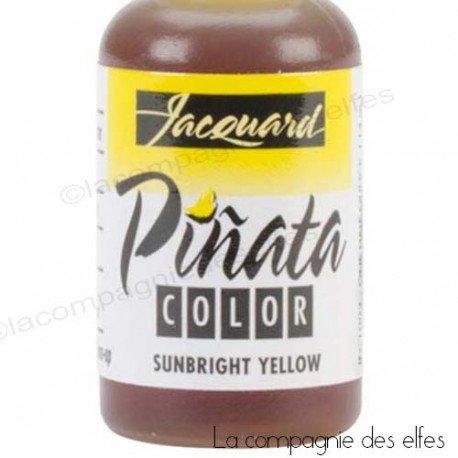 8 Avril 2019 tuto encre alcool yupo Sandrine V. programmé Encre-alcool-pinata-jaune-yellow