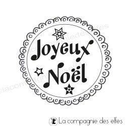label Joyeux Noël REF AL tampon nm