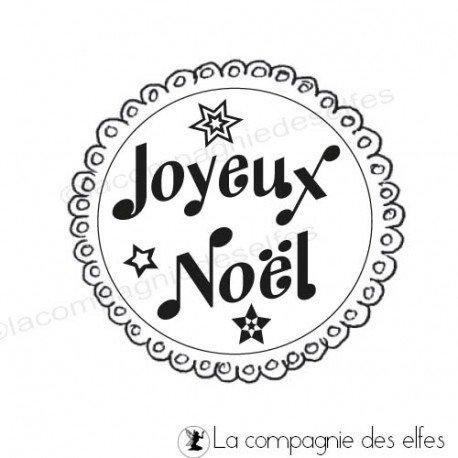 Label joyeux noel | tampon joyeux Noël