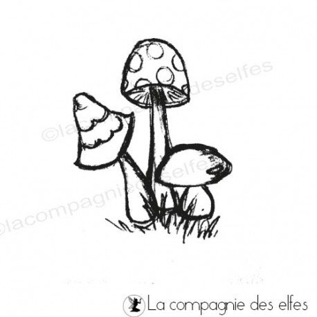 Tampon champignon | mushrom stamp