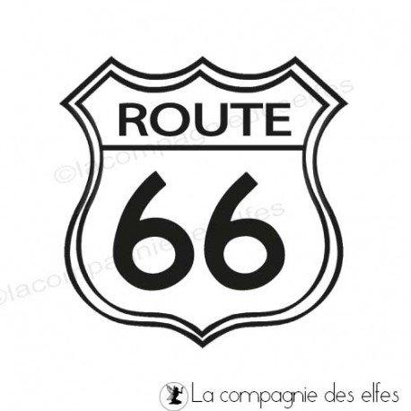 Tampon encreur route 66   road 66 stamp